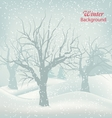 Winter Outdoor Background vector image