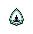 yoga meditation logo concept vector image vector image