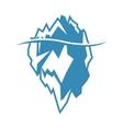 blue iceberg icon on white background vector image