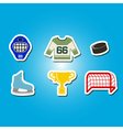 color set with hockey icons vector image