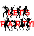 Party banner vector image