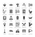 plumbing service flat glyph icons house vector image