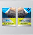 abstract brochure design template vector image
