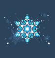abstract snowlflake flat design vector image vector image