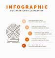 aim focus goal target targeting infographics vector image vector image