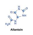 allantoin ureidohydantoin or glyoxyldiureide vector image vector image