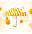 Autumn Umbrella Lettering Concept vector image