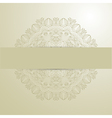 background with lace circle hand drawn ornament vector image vector image
