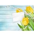 beautiful bouquet tulips eps 10 vector image