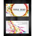 beautiful creative business card design vector image vector image