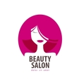 Beauty logo design template cosmetic vector image