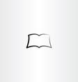 black book logo icon vector image