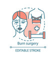 burn surgery concept icon vector image vector image
