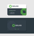 business card clean green color vector image vector image