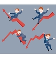 businessman the ups and downs of affairs vector image vector image