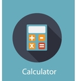 Calculator Flat Concept Icon vector image vector image