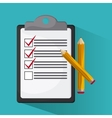 Checklist design document mark vector image vector image