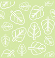 chinese kale or spinach leaves outline seamless vector image vector image