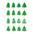 christmas tree graphic set vector image