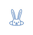 conjure hare line icon concept conjure hare flat vector image