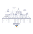 cordoba city skyline vector image