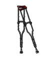 crutches vector image vector image