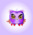 cute halloween pig lying in a puddle vector image