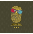 Cute owl in the 3D cinema vector image