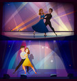 dance banners set retro cartoon vector image vector image