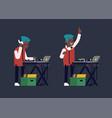 dj playing music vector image
