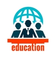 education logo vector image vector image