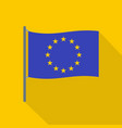 european flag icon flat style vector image
