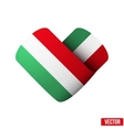 Flag icon in the form of heart I love Hungary vector image vector image