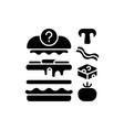 food constructor black glyph icon vector image