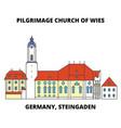germany steingaden pilgrimage church of wies vector image vector image