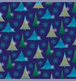 gradient christmas tree pattern vector image vector image