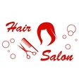 hair salon red symbol vector image