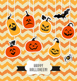 Halloween background of pumpkins vector image vector image