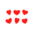 hearts classic scarlet vector image vector image