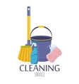 Household supplies and cleaning flat icons vector image