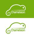 image chameleon design on white background vector image vector image