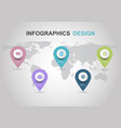 infographic design template with pins vector image vector image