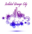 Isolated grunge city vector image vector image