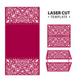 laser cut envelope card template vector image vector image