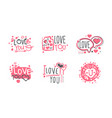 love you original logo design templates set vector image