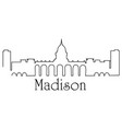 madison city one line drawing vector image vector image