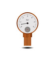 manometer with temperature scale vector image