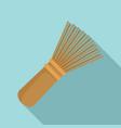 matcha tea whisk icon flat style vector image