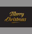 merry christmas gold word text typography vector image vector image