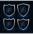 metallic shield symbols or badges design set vector image vector image
